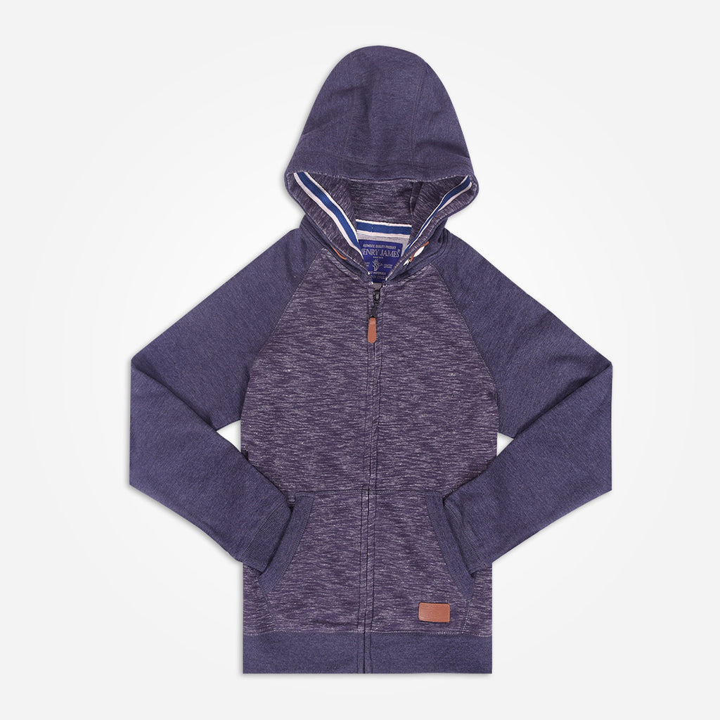 Copy of Kids Henry James contrast sleeve  zip through Hooded - Charcoal - klashcollection - 1