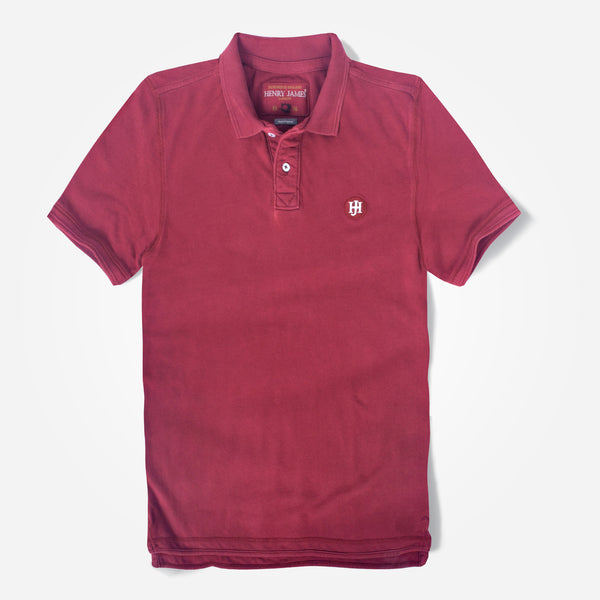 Men's Henry James Solid Signature Polo Shirt - klashcollection - 1