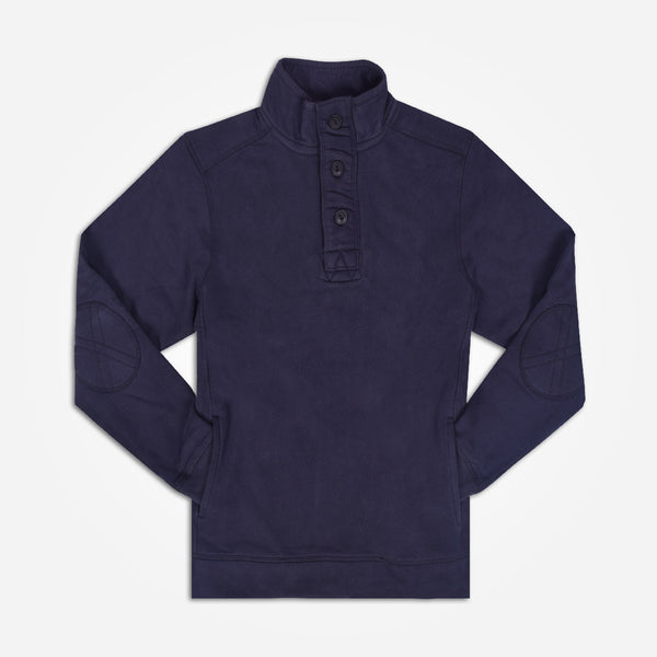 Copy of Men's Henry James Button up funnel neck with 2 Side Pockets - Navy - klashcollection - 1