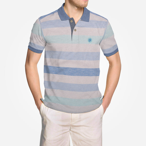 Men's Henry James Super Soft Mixed Stripe Signature Polo Shirt - klashcollection - 2