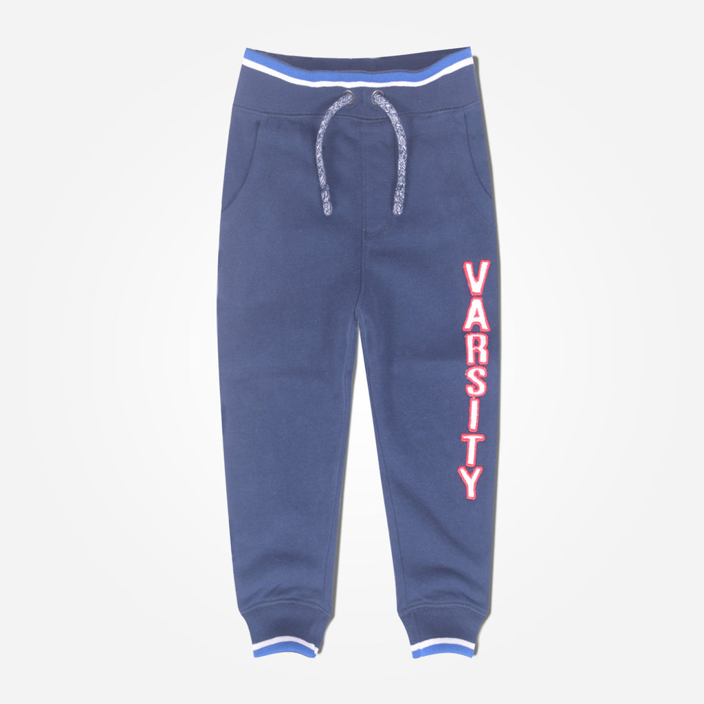 Copy of Kid's Oliver Duke VARSITY close bottom Jogger - Navy Blue - klashcollection - 1