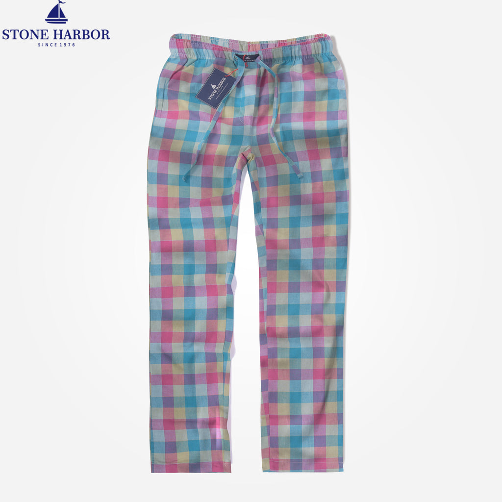 Men's Stone Harbor Multi Checked Loungewear Trouser - klashcollection - 1