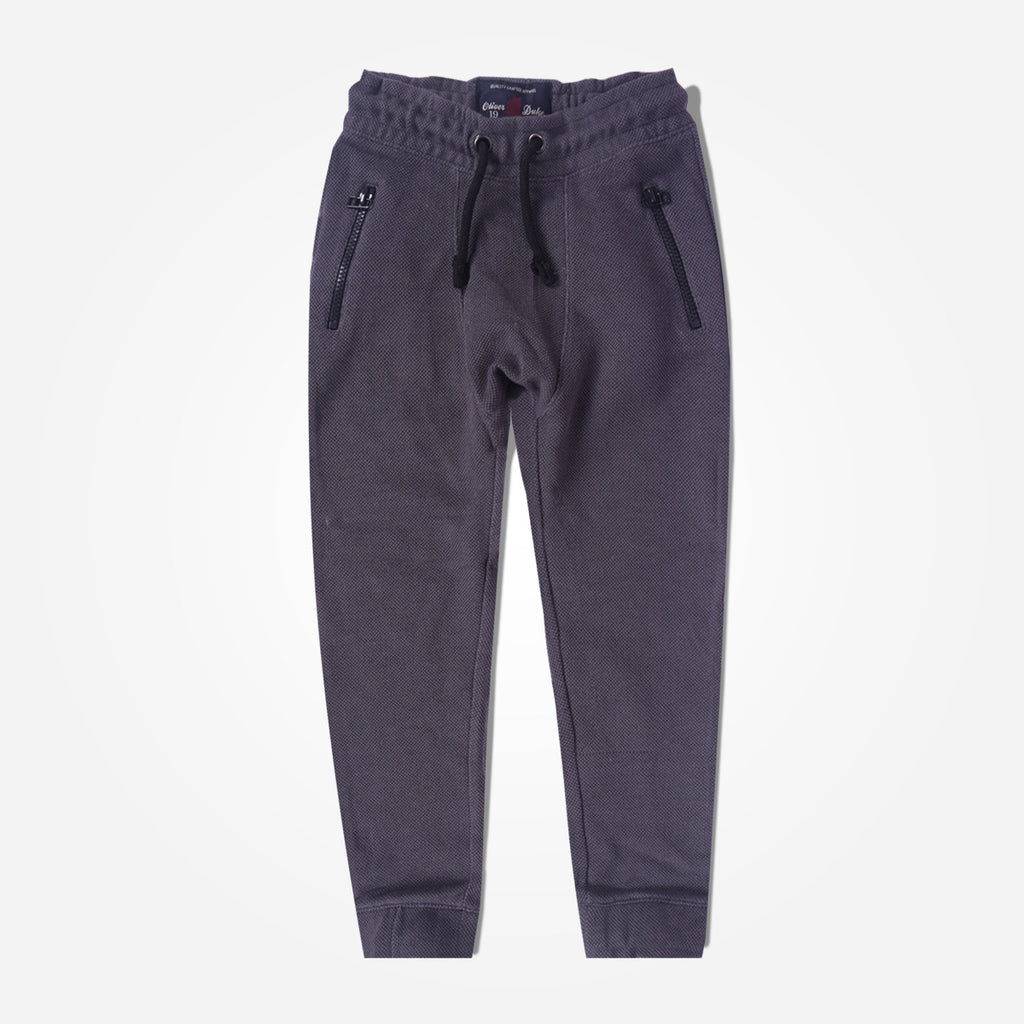 Kids Oliver Duke Narrow Bottom Zip Pocket Trouser - Dark Grey - klashcollection - 1