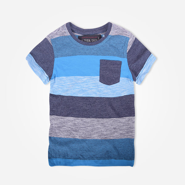 Kids Oliver Duke Bright Striped Pocket T-Shirt - klashcollection - 1
