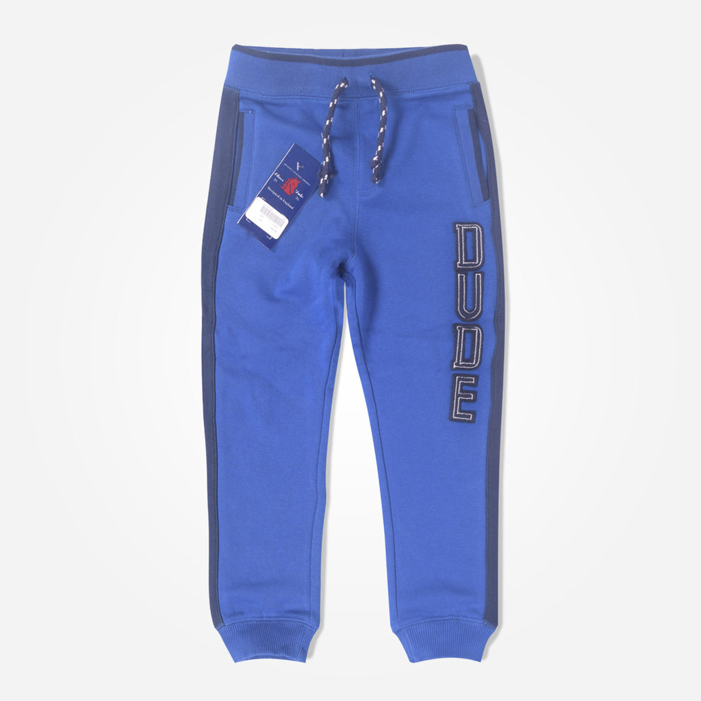 Copy of Kid's Oliver Duke DUDE close bottom Jogger With Side panels - Royal - klashcollection - 1