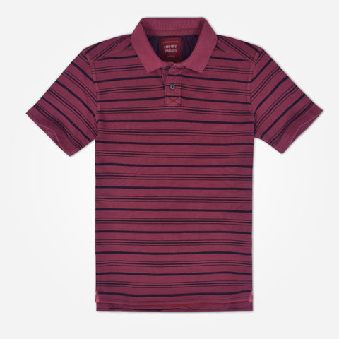 Men's Henry James Pigment dyed striped Polo Shirt