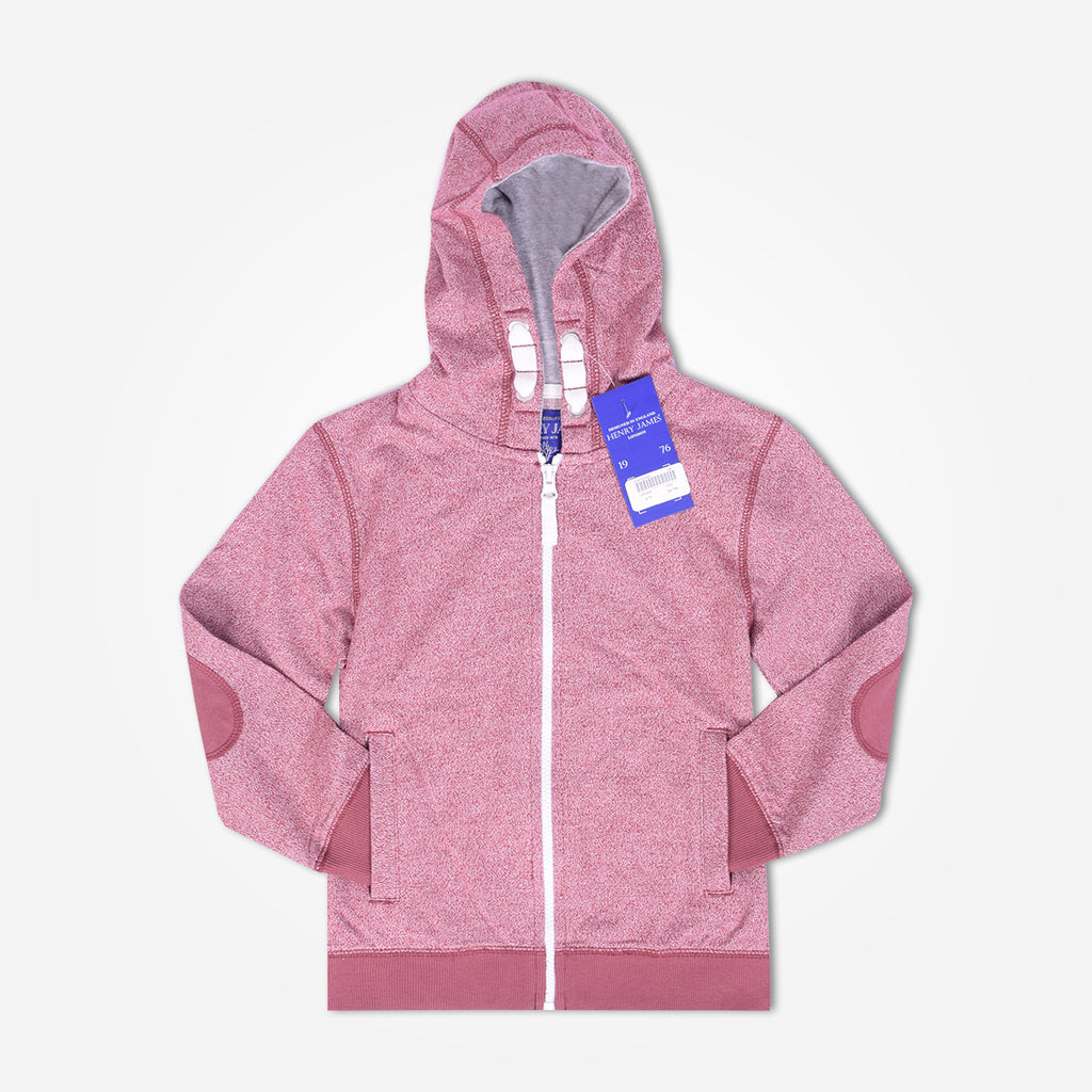 Kid's Henry James zip through hoodie - Pink Marl - klashcollection - 1