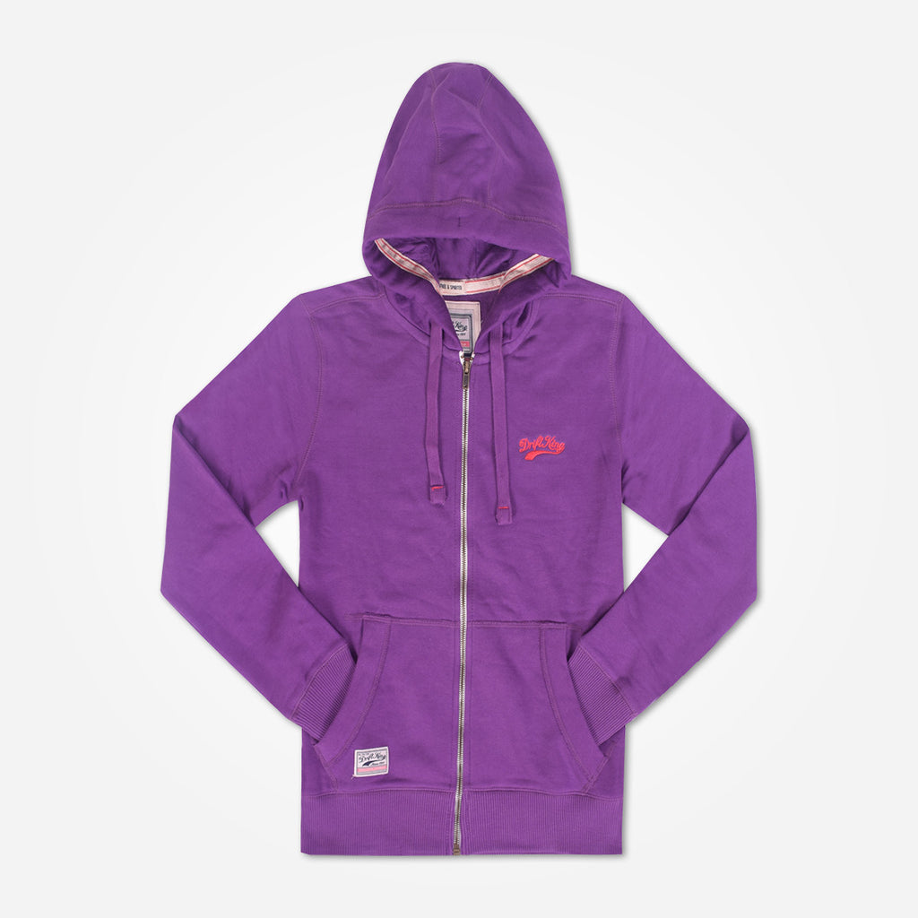 Copy of Men's DRIFT KING  Zip Through Hooded - Purple - klashcollection - 1