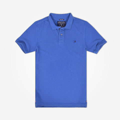 Men's Henry James Solid Signature Polo Shirt - Persian Blue