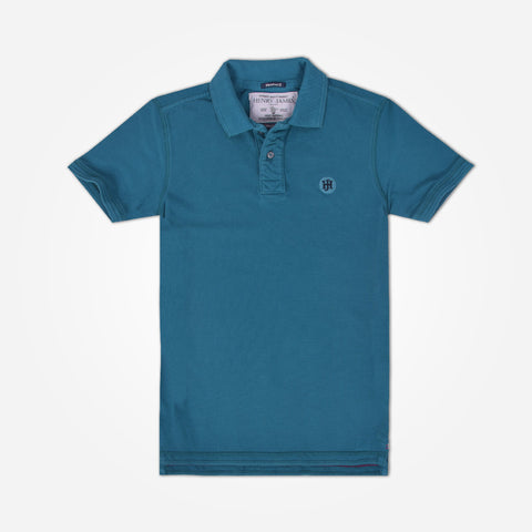 Men's Henry James Signature Polo Shirt - Teal