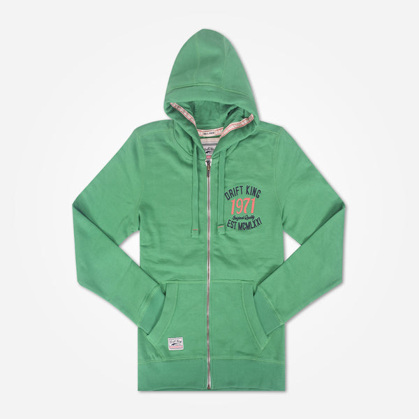 Copy of Men's DRIFT KING  Zip Through Hooded - Emerald Green - klashcollection - 1