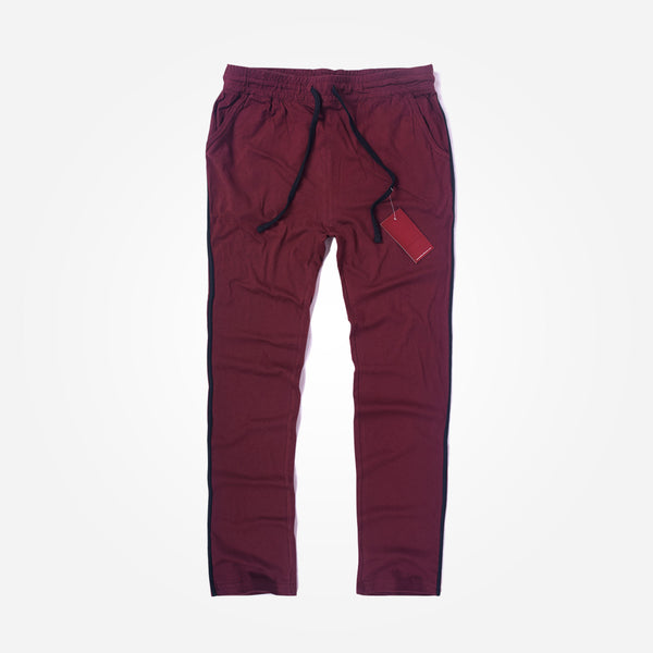 Men's Henry James Super Soft Solid Loungewear Trouser - Burgundy - klashcollection - 1