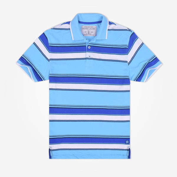 Men's Henry James  Yarn dyed Striped Polo Shirt