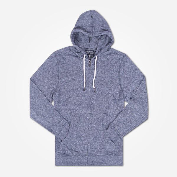 Men's Henry James Pull over Hoody - Denim Marl - klashcollection - 1
