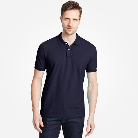 Men's Henry James Solid  Polo Shirt - Navy