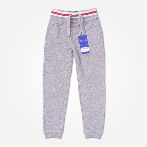 Kid's Henry James close bottom Jogger With Front Badge- Light Grey - klashcollection - 1