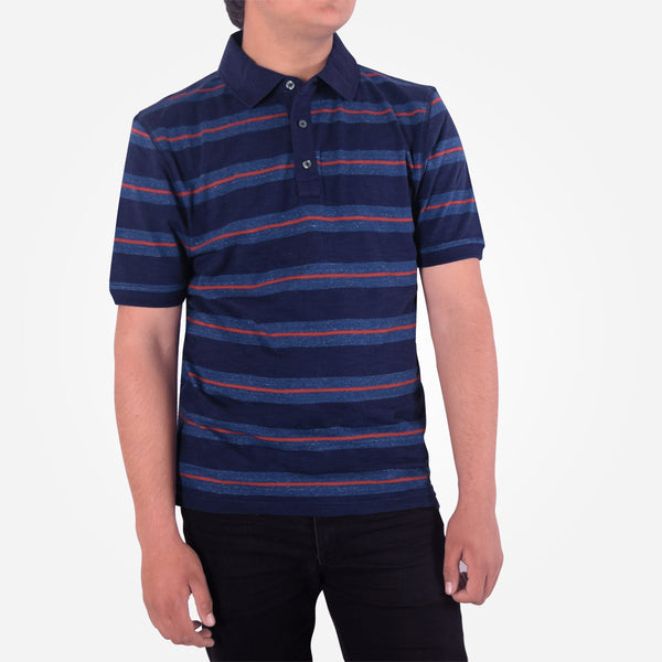Men's Henry James  Scale Striped Rugby Polo Shirt - klashcollection - 2