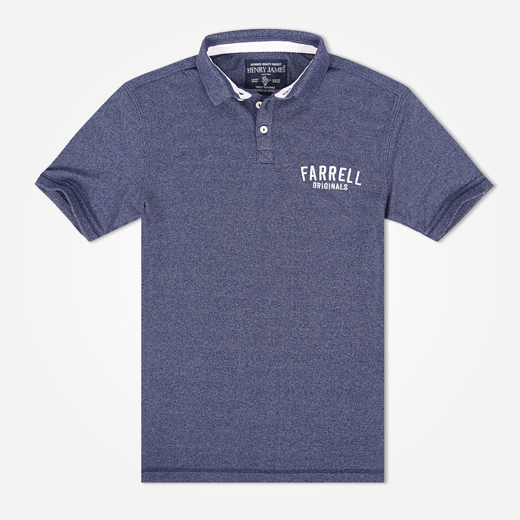 Men's Henry James Embroidered Polo Shirt - Denim Blue