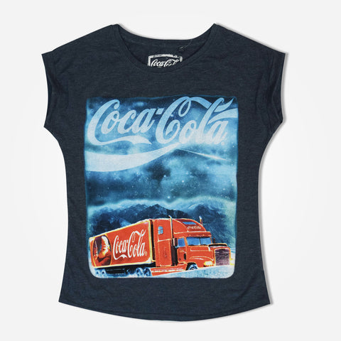 "Women's Tagg Graphic T-Shirt with ""coca cola"" Chest Print"