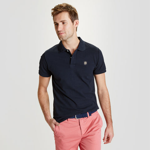 Men's Henry James Short Sleeves Polo Shirt - Navy