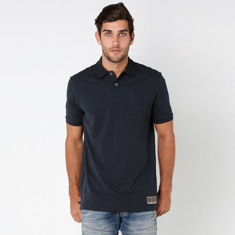 Men's Henry James Short sleeves Polo Shirt - Washed Navy
