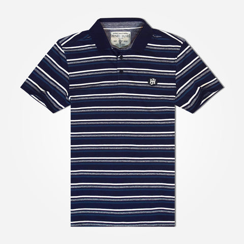 Men's Henry James Pattern Striped Polo Shirt