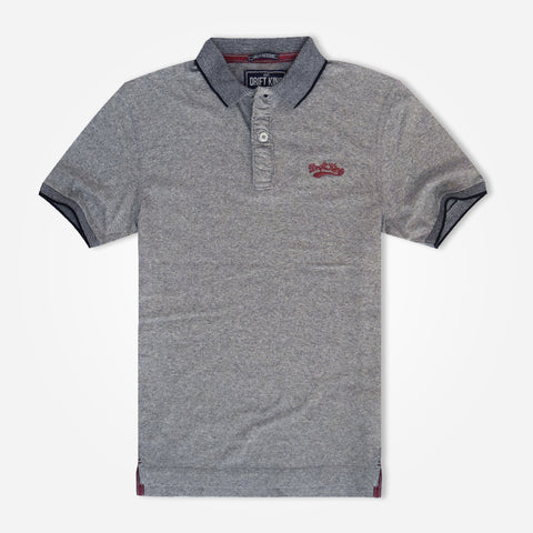 "Men's Henry James "" DRIFT KING"" Polo Shirt  - Grey"