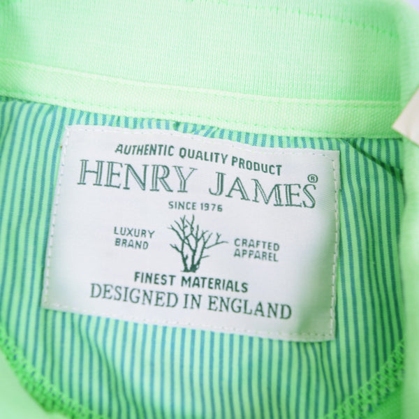 Men's Henry James Neon Short sleeve Polo Shirt - Neon Green - klashcollection - 2