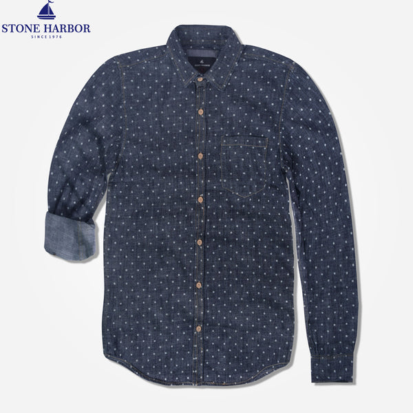 "Men's "" Stone Harbor"" Polka Doted Casual Shirt - klashcollection - 1"