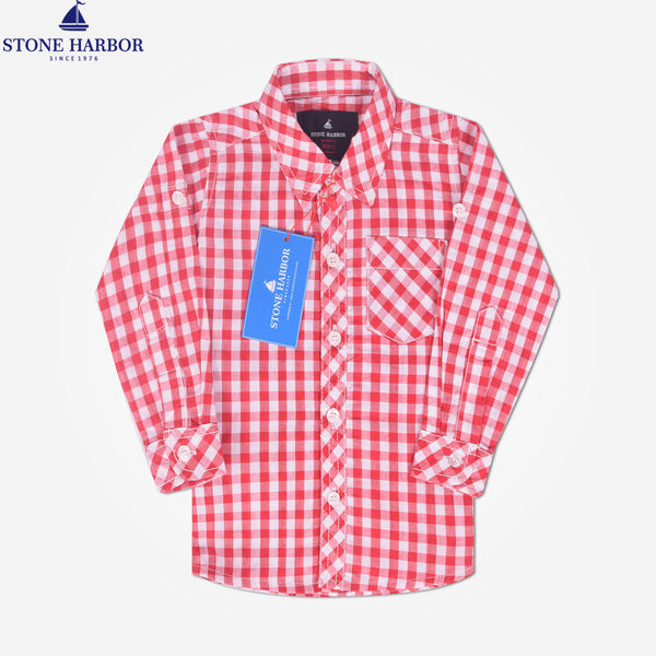 Copy of Kids Stone Harbor Hilton Casual shirt - Red/White - klashcollection - 1