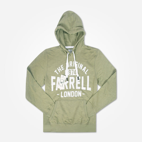Men's Henry James FARRELL Pullover Graphic Hoodie - Khaki Green - klashcollection - 1