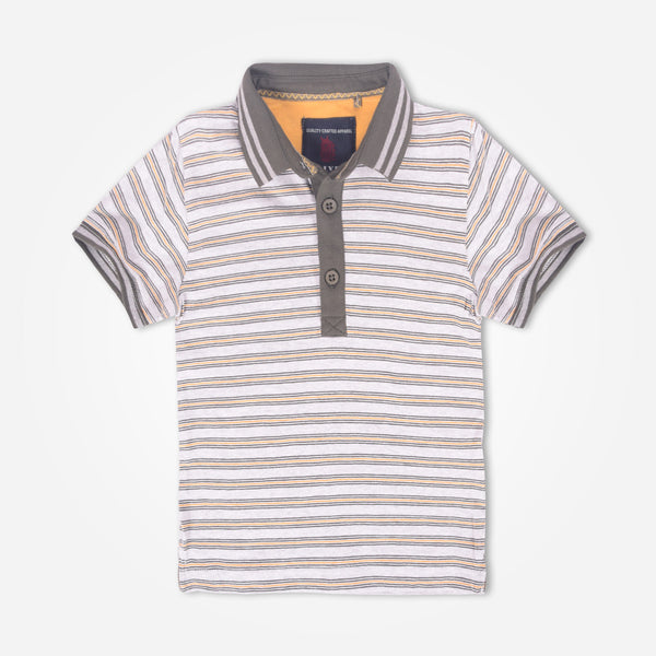 Kids Oliver Duke Ultra Soft Magna Striped Polo Shirt - klashcollection - 1