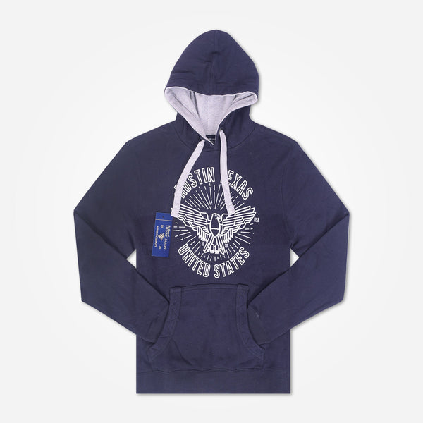 Men's Henry James AUSTIN TEXAS Pullover Graphic Hoodie - Navy Marl - klashcollection - 1