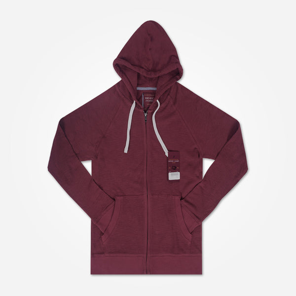 Men's Henry James Kangaroo pocket hoodie - Burgundy - klashcollection - 1