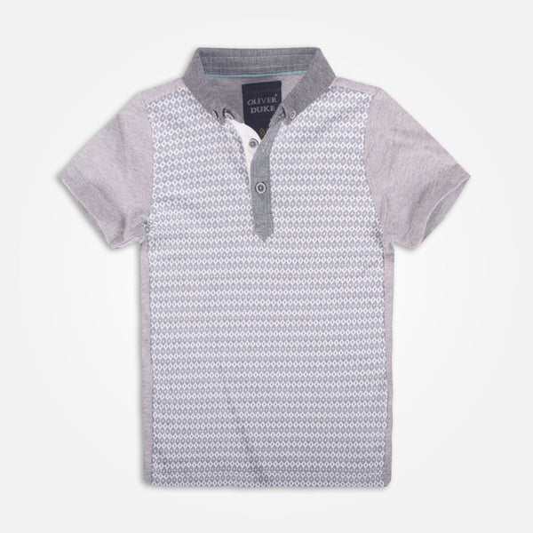 Kids Oliver Duke Body Print Short Sleeve Polo Shirt - klashcollection - 1