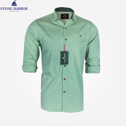 Men's Stone Harbor Single Pocket Casual Shirt - Mint Green