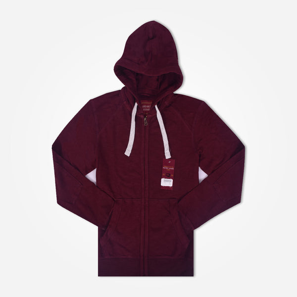 Men's Henry James zip through Hoodie - Burgundy - klashcollection - 1