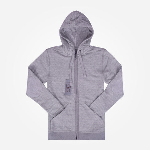 Men's Henry James zip through Hoodie - Light Grey - klashcollection - 1
