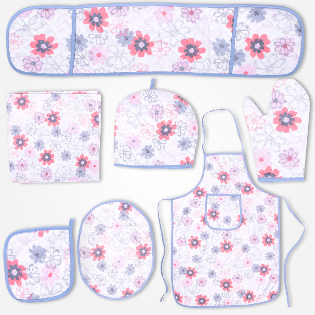 Galaxy Lt. Pink Floral Kitchen Accessories Set - klashcollection - 1