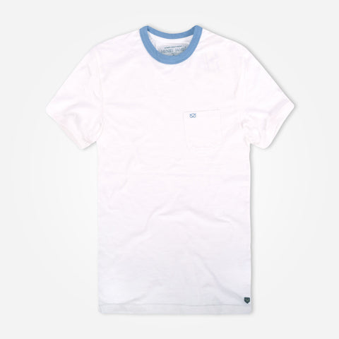 Men's Haney James offwhite slub ringer T-shirt - klashcollection - 1