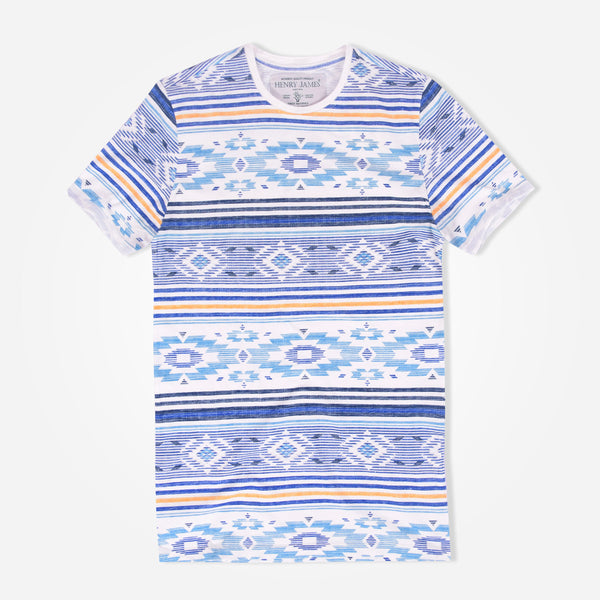 Men's Henry James Aztec Crew Neck T-Shirt - klashcollection - 2