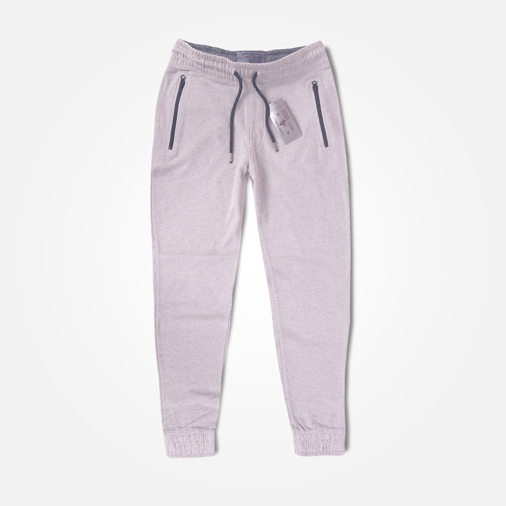 Men's Henry James Closed bottom Athletic Slim Fit Ripple Jogger - Grey Marl - klashcollection - 2