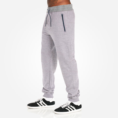 Men's Henry James Closed bottom Athletic Slim Fit Ripple Jogger - Grey Marl - klashcollection - 1