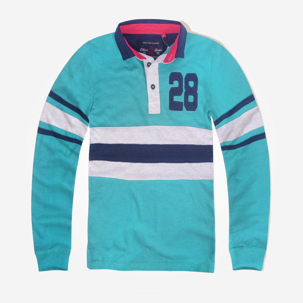 Kids Oliver Duke 28 Applique Long Sleeved Rugby Shirt - klashcollection - 1