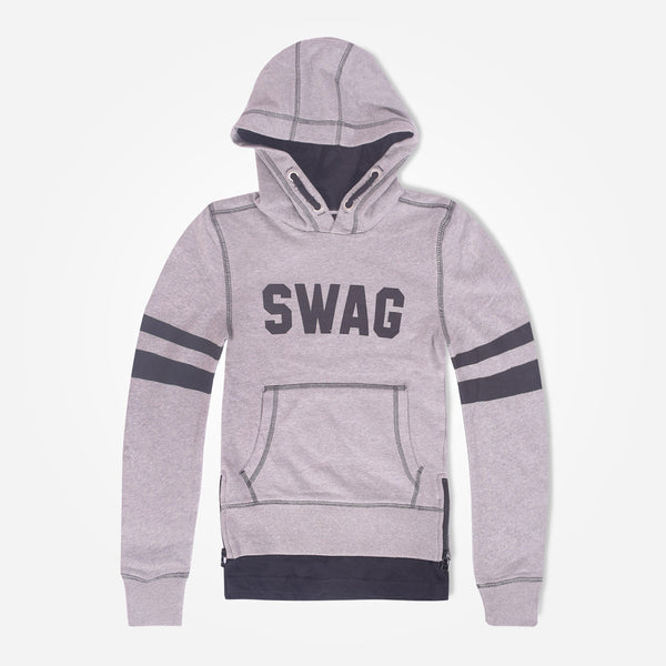 Kids Oliver Duke SWAG Pull Over hooded -Grey Marl - klashcollection - 1