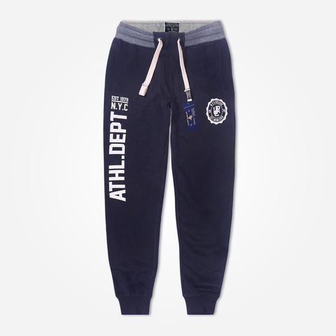 Copy of Men's Henry James close bottom  Printed Fleece Jogger - Navy - klashcollection - 1