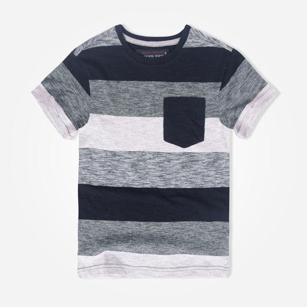Kids Oliver Duke Elegance Striped Pocket T-Shirt - klashcollection - 1