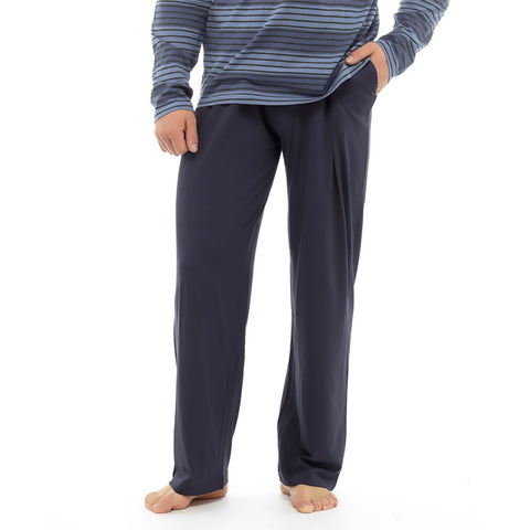 Men's Henry James close bottom fleece trouser - Navy - klashcollection - 1
