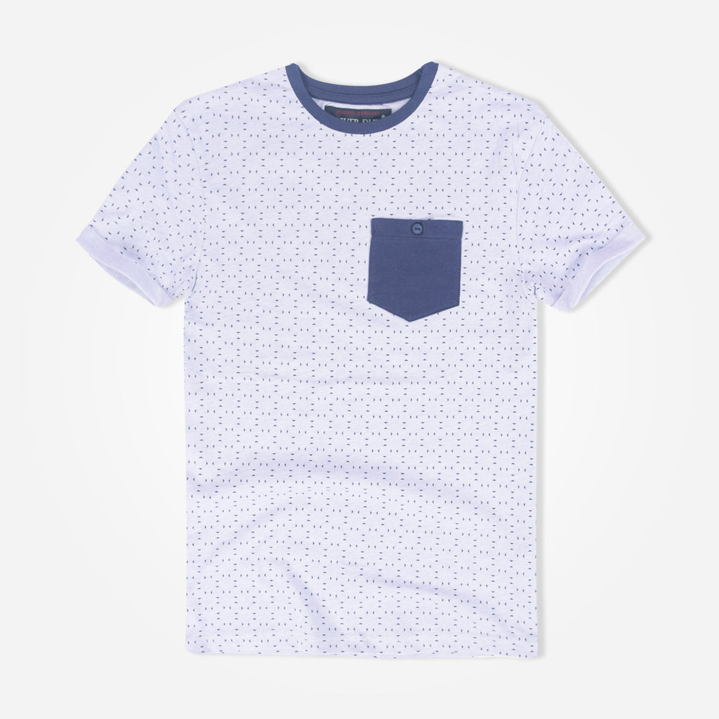 Kids Oliver Duke All Over Printed Contrast Pocket T-Shirt - klashcollection - 1