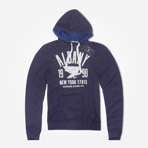 Copy of Men's Henry James ALBANY Pullover Graphic Hoodie - Dark Navy Blue - klashcollection - 1